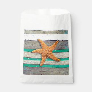 Weathered Plank Beach Board Rustic Favour Bag