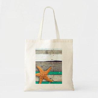 Weathered Plank Beach Board Rustic Tote Bag