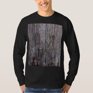 Weathered Power Pole with Staples and Nail T Shirts