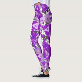 Weathered Purple Triangle Leggings