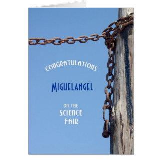 Weathered Pylon & Chain - Congrats Science Fair Card