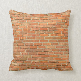 Weathered Red Brick Throw Pillow