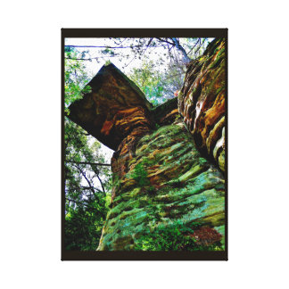Weathered Rocks Canvas Print