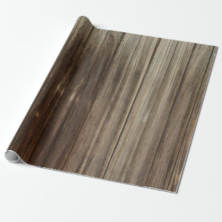Weathered Rustic Barn Wood Boards Wrapping Paper
