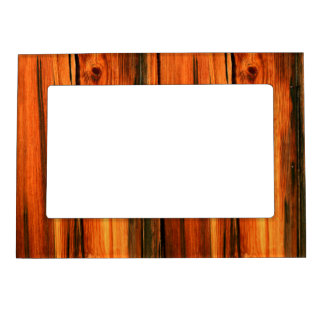 weathered rustic pine boards magnetic picture frame