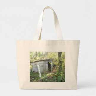 Weathered Rustic Shed Large Tote Bag