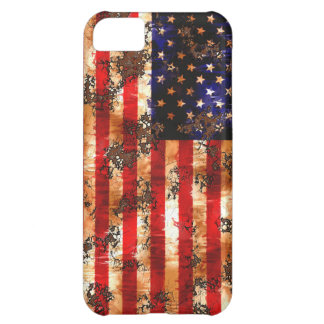 Weathered Rusty American Flag iPhone 5C Case