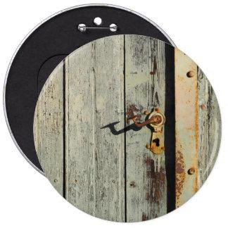 Weathered Rusty Door Handle 6 Cm Round Badge
