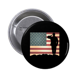 Weathered Salute Veterans Day Buttons
