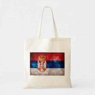 Weathered Serbia Flag Tote Bag