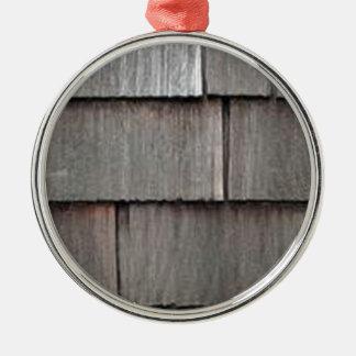 Weathered Shingles Metal Ornament