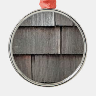 Weathered Shingles Silver-Colored Round Decoration