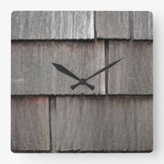 Weathered Shingles Square Wall Clock