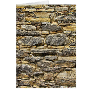 Weathered Stone Old Wall Texture Card