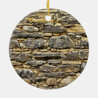 Weathered Stone Old Wall Texture Round Ceramic Decoration