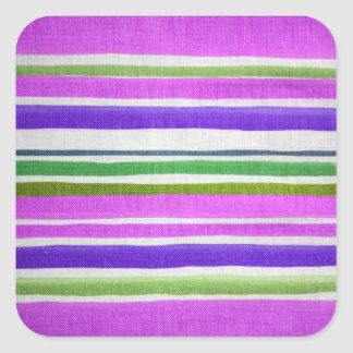 Weathered Stripes Square Sticker