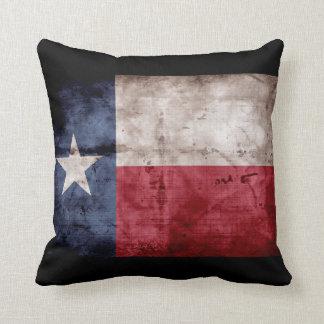 Weathered Texas Flag; Cushion