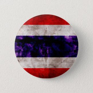 Weathered Thailand Flag 6 Cm Round Badge