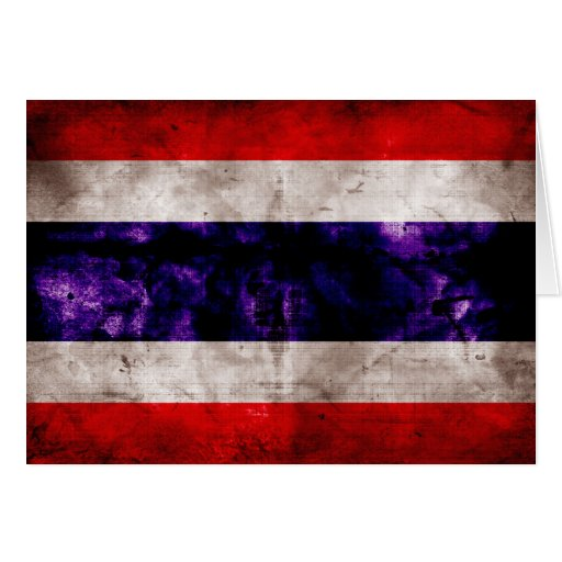 Weathered Thailand Flag Cards