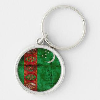 Weathered Turkmenistan Flag Keychain