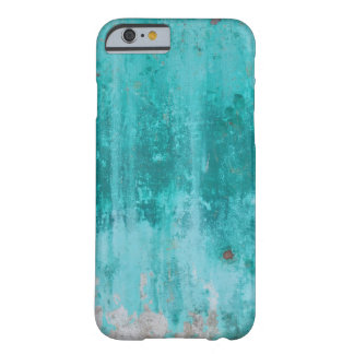 Weathered turquoise concrete wall texture barely there iPhone 6 case