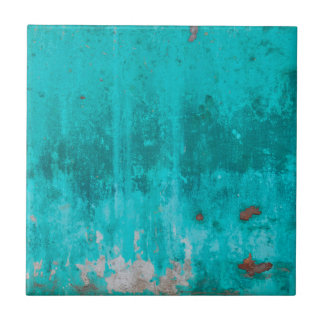Weathered turquoise concrete wall texture ceramic tile