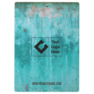 Weathered turquoise concrete wall texture clipboard