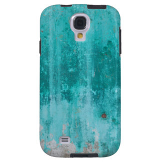Weathered turquoise concrete wall texture galaxy s4 case