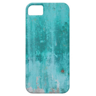 Weathered turquoise concrete wall texture iPhone 5 case