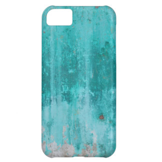 Weathered turquoise concrete wall texture iPhone 5C case