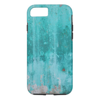 Weathered turquoise concrete wall texture iPhone 8/7 case