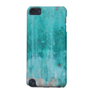 Weathered turquoise concrete wall texture iPod touch (5th generation) case