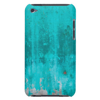Weathered turquoise concrete wall texture iPod touch case