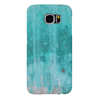 Weathered turquoise concrete wall texture samsung galaxy s6 cases