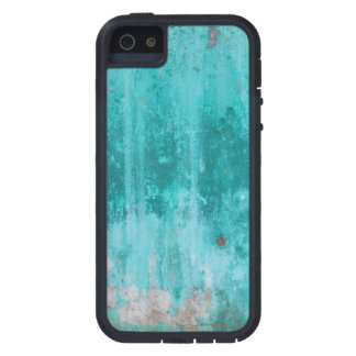 Weathered turquoise concrete wall texture tough xtreme iPhone 5 case