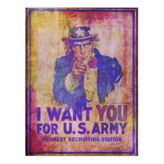 Weathered Uncle Sam Postcard