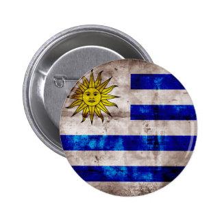 Weathered Uruguay Flag 6 Cm Round Badge