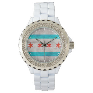 Weathered Vintage Chicago State Flag Watches