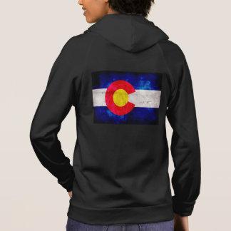 Weathered Vintage Colorado State Flag Hoodie