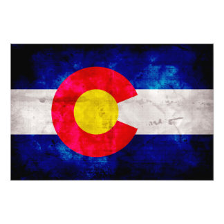 Weathered Vintage Colorado State Flag Photograph