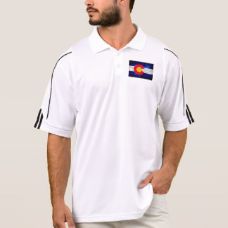 Weathered Vintage Colorado State Flag Polo Shirt