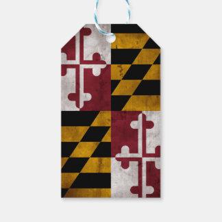 Weathered Vintage Maryland State Flag