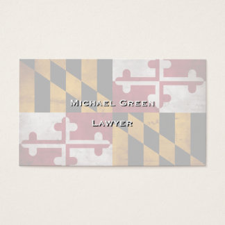 Weathered Vintage Maryland State Flag Business Card