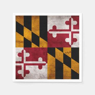 Weathered Vintage Maryland State Flag Disposable Napkins