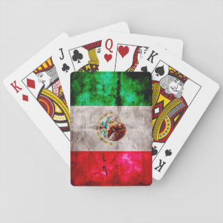 Weathered Vintage Mexico Flag Playing Cards