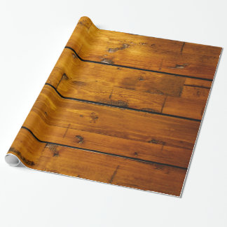 Weathered Vintage Wood Texture Wrapping Paper