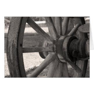 Weathered Wagon Wheel Card