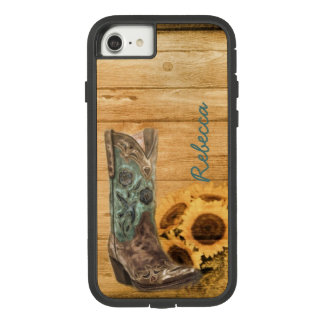 Weathered Western Country sunflower cowboy boot Case-Mate Tough Extreme iPhone 8/7 Case
