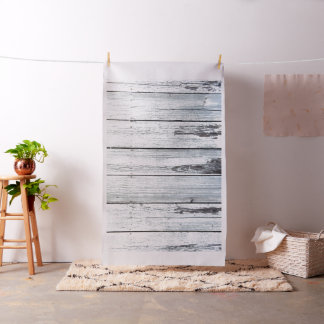 Weathered White Rustic Wood Boards Fabric