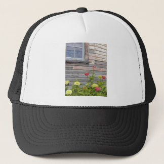 Weathered wood and Zinnias Trucker Hat